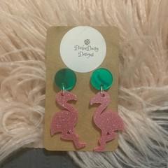 Flamingo Earrings, Statement Earrings, Fashion Earrings