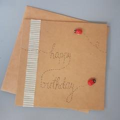 Lady bird birthday card
