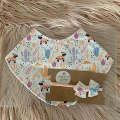Lama Bandana Bib and headband set,Baby bib, dribble bib