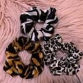 Velour Scrunchie Bundle, Animal Print Scrunchie Bundles,  Scrunchie Set