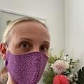 -Cotton Face Mask ~ Purple Spots ~ 3 layers