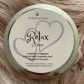 Relax and distress Candle Tin, amethyst crystal candle, Lavender Candle