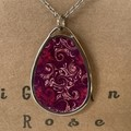 Sublimation purple and maroon printed necklace