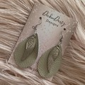 Leather Tear Drop and Angel Wing Earrings, Boho Earrings