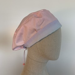 Colourful one of a kind reversible Scrub Hat - Pink polka dot/unicorn ombre