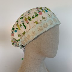Colourful one of a kind reversible Scrub Hat - Cactus Garden