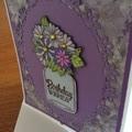 Female birthday card. Jar of flowers birthday card.