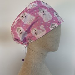 Colourful one of a kind reversible Scrub Hat - Princess Kitty