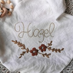Personalised hand embroidered Soft Baby Security Taggie Comforter Blanket