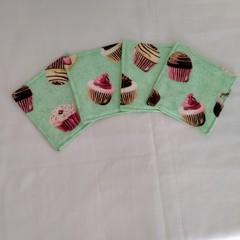 Cupcakes Fabric Coasters (Set of 4)