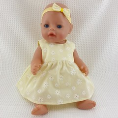 Dolls Dress, Bloomers and Bonnet | Baby Born