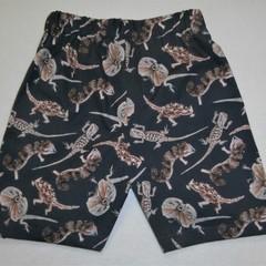 Aussie Lizards- Novelty Shorts-Size 4