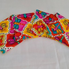 Dragonflies Fabric Coasters (Set of 4)