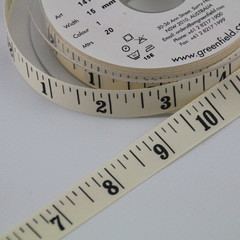 15mm Tape Measure Ribbon Cream for cake decorating, cards, gift wrapping, toys