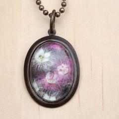 Featherflower Wildflower Brass Necklace