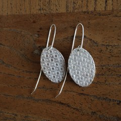 Recycled 99.9% Silver textured Earrings