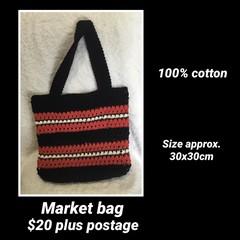 Market bag, Crochet, shopping