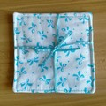 Blue and White Bows Fabric Coasters (Set of 2)