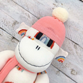 'Pia' the Sock Monkey - cream with rainbows - *READY TO POST*