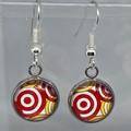 Bullseye Cabochon Earrings