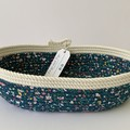 Rope Basket - Unicorns and Bunnies, Floral Fabric