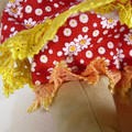 Hettie Cloth Doll - Mini Heirloom Style Fabric Doll in Red Floral Print