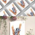 Australian Koala, Watercolour and Ink Art Greeting Cards, Blank Inside, A6 size