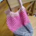 Crochet Mesh Market Bag - Pink Galah