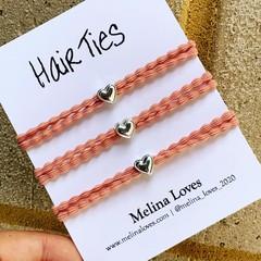 Hair Ties - Pink - Heart