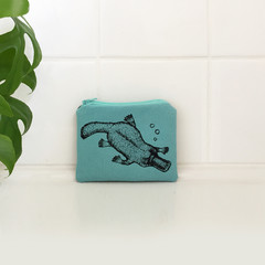 Screen printed Platypus coin purse