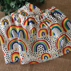 Rainbow and dot  Adult Sock Protectors