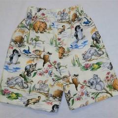 """Childrens Novelty Shorts-""""Aussie Animals"""""""