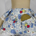 Inez Cloth Doll - Mini Heirloom Style Fabric Doll in Blue Daisy Floral Print