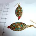 Nepal style bead earrings.