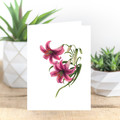 Lily Watercolour Artist Greeting Card, Blank Inside, A6 size, Floral