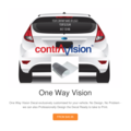One Way Vision Sticker, Marketing Sticker, Marketing Decal, Car Sticker