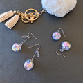 Flower in a Glass - Pastel dangle earrings (surgical stainless hooks)