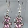 Pink Teddy Bling earrings