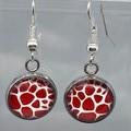 Red Safari Earrings