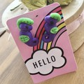 Purple green seahorse animal ocean earrings