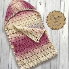 Crochet sleep sack Size 0-6m pram blanket