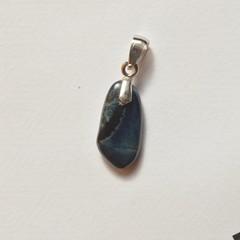 Unique handmade vivianite on sterling silver pendant 1.8cm x 1cm x 0.3cm