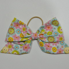 Bright Floral Bow Ear Saver for Ear Loop Face Masks