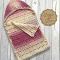 Crochet sleep sack Size 0-6m pram blanket