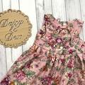 Floral Tea Party Dress, Size 2 Girls Dresses