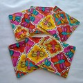 Dragonflies Fabric Coasters (Set of 6)