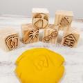 Wooden Dough Imprint Blocks - BEACH DAYS Set
