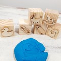 Wooden Dough Imprint Blocks - BABY Set