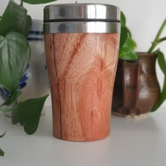 Jarrah Wood travel cup,  Re-reusable cup, Wood Gift, Coffee Mug