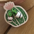 Pot plant succulent nature cute earrings